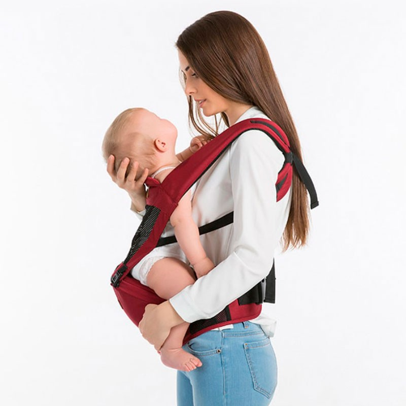 Bolsa Canguru Ergonômico Bebê Portátil Com Assento