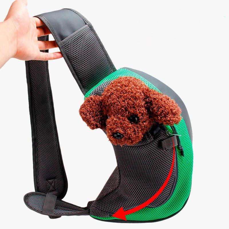 Bolsa Em Tecido Para Passeio Com Cães ou Gatos Até 6kg