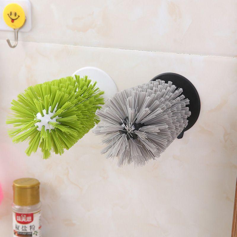 Escova de Pia Lava Copos e Taças c/ Ventosa