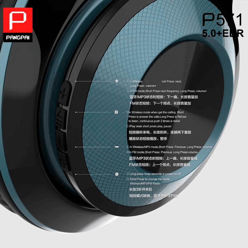Fone de Ouvido Headphone PangPai P571
