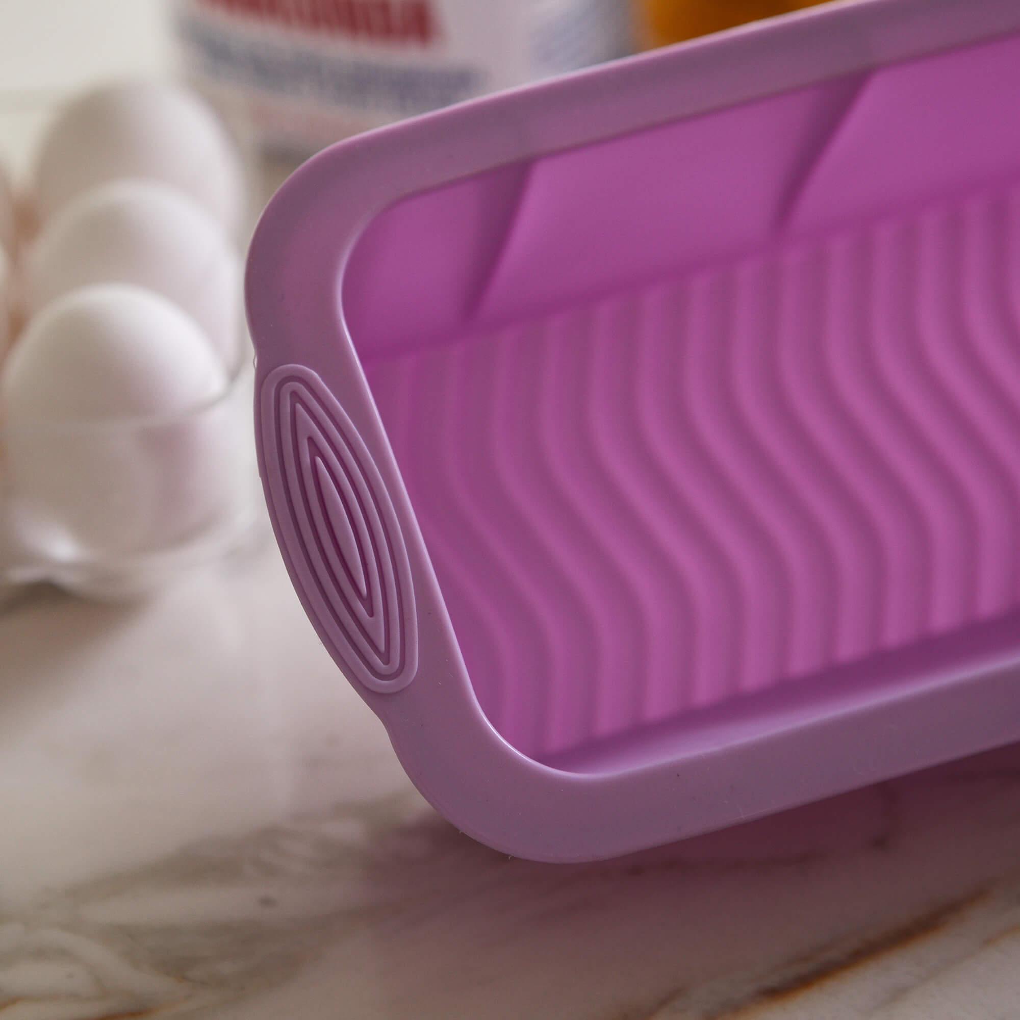 Forma Bolo Inglês Pão Silicone Cozinha Assadeira 220º