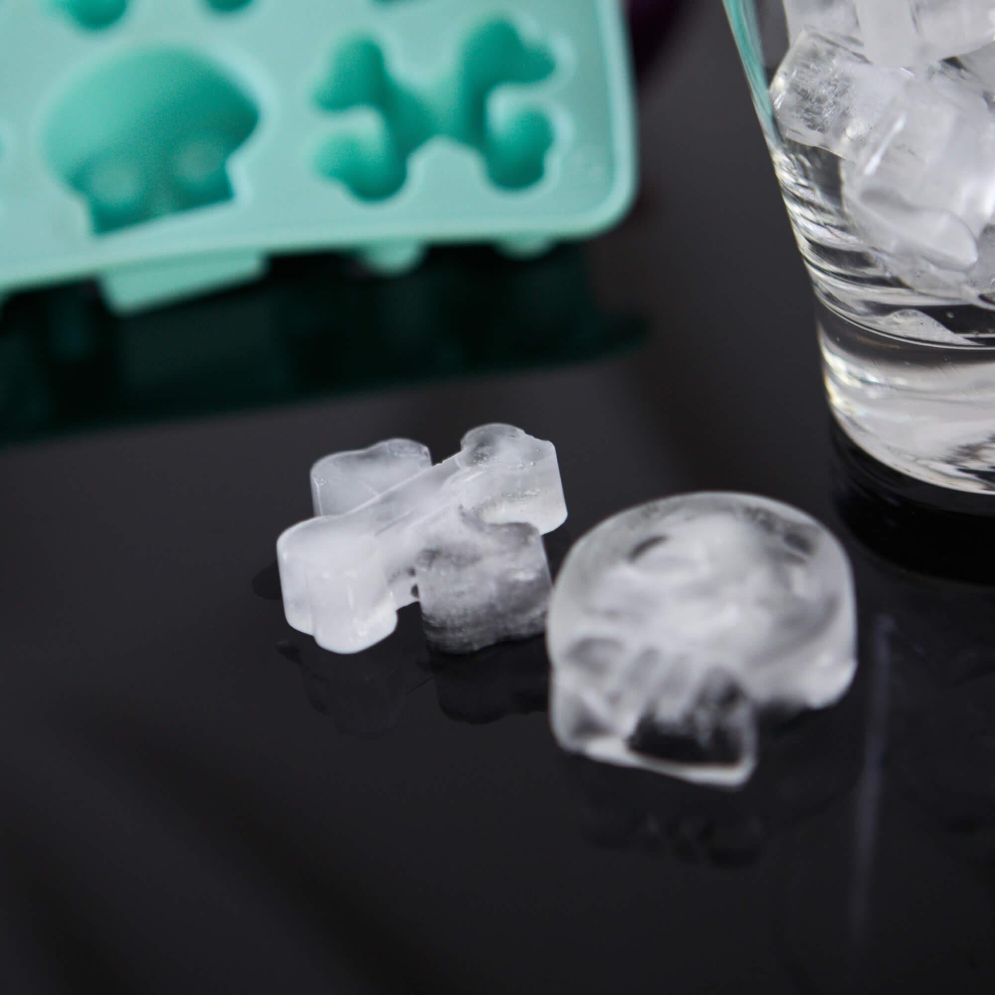 Forma De Gelo Caveira em Silicone