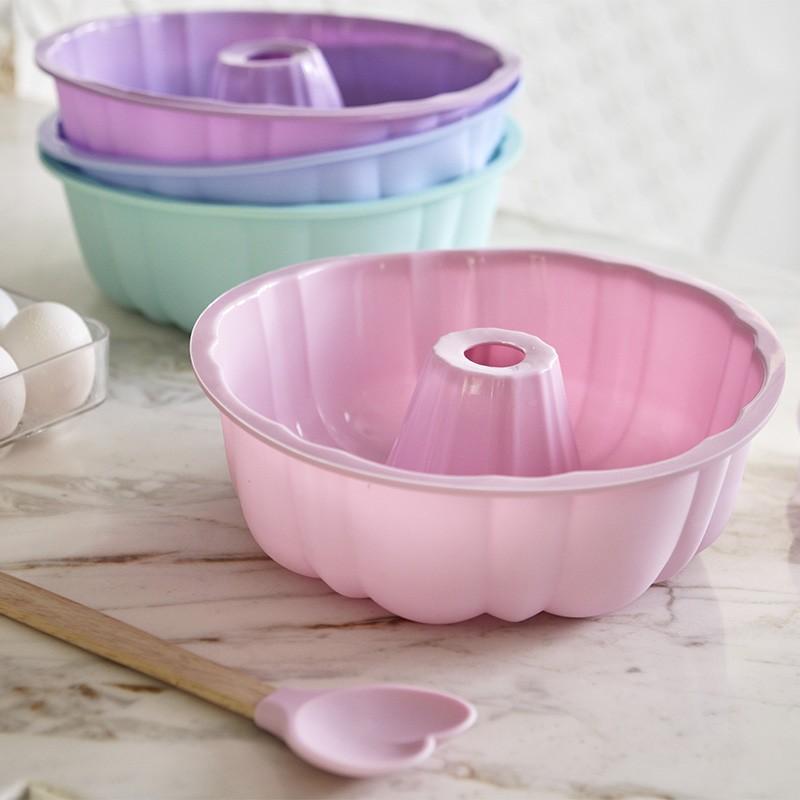 Forma De Silicone Para Bolo,Torta,Pudim Cozinha Doces Assadeira