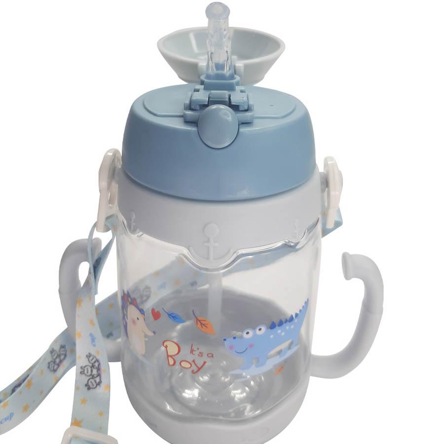 Garrafa de Plástico com Canudo - Helicóptero 450 ml