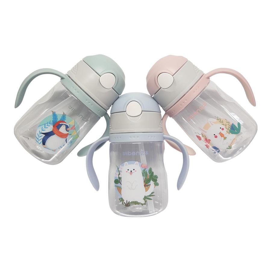 Garrafa Infantil 450ML (Estampas de pinguim e cachorrinho)