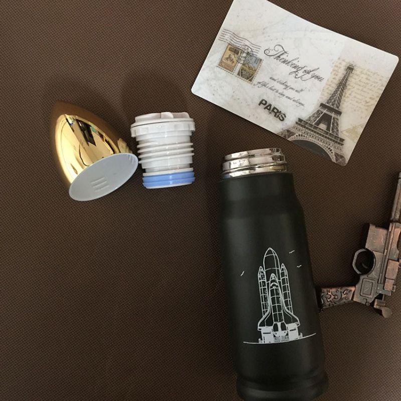 Garrafa Térmica De Inox em Formato de Bala De Fuzil 500ml