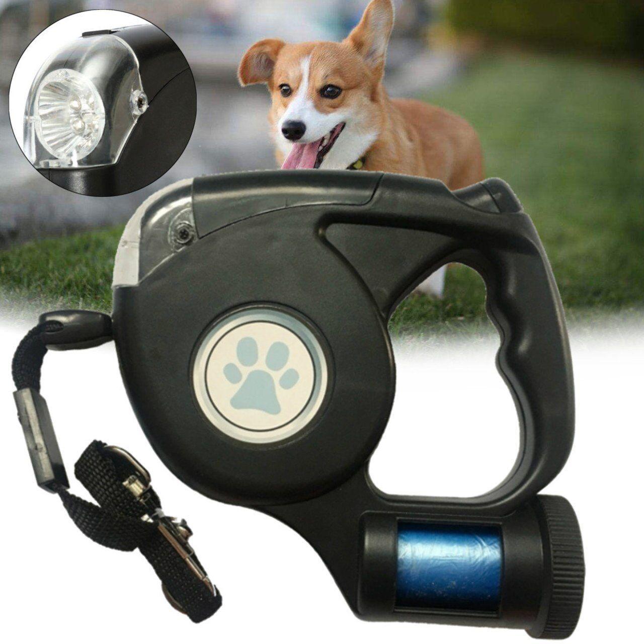 Guia Para Pets Retrátil com LED 5 Metros REF 2793