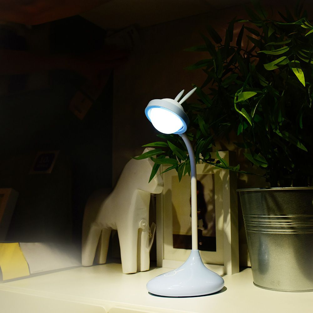 Luminária De Mesa Led Articulada Orelhinhas de Coelho