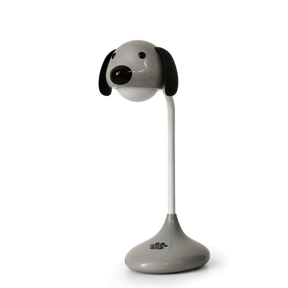Luminária De Mesa Recarregável Em Formato de Cachorro Touch Led