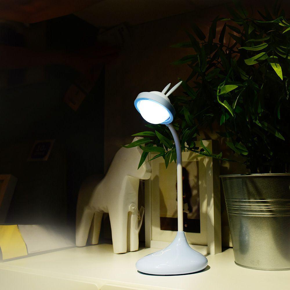 Luminária De Mesa USB Com Orelhinhas de Coelho Touch Led