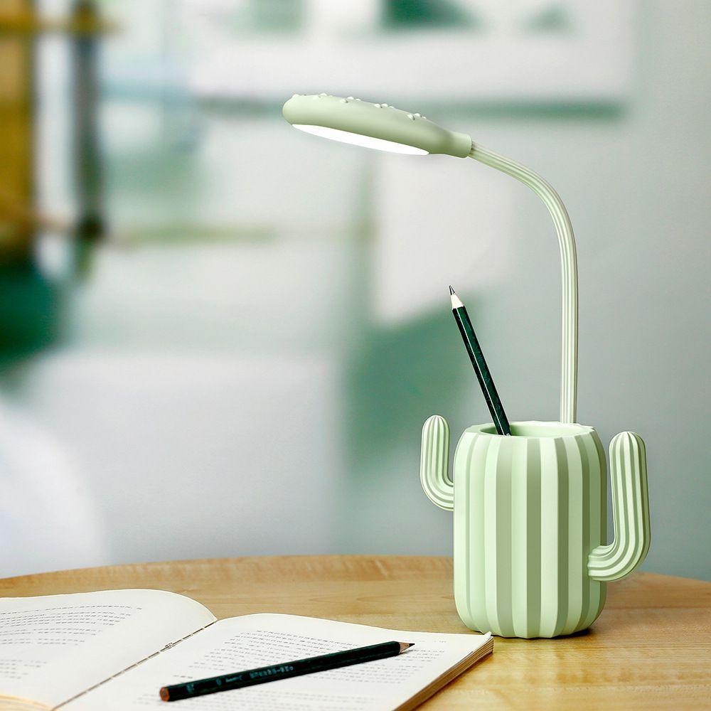 Luminária De Mesa USB Em formato Cactos Touch Led
