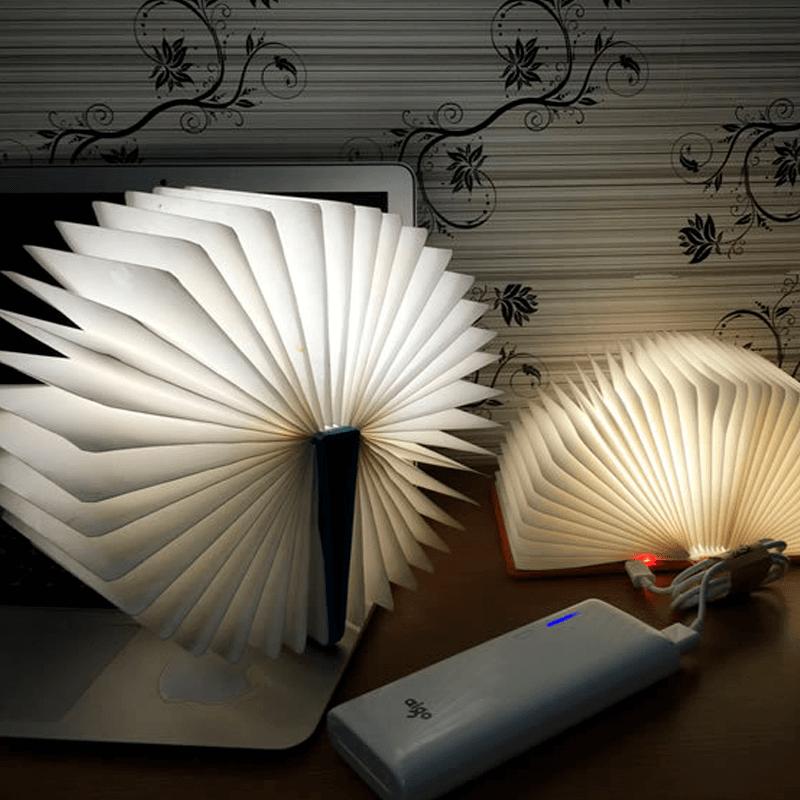 Luminária Formato De Livro LED Varias Cores Usb