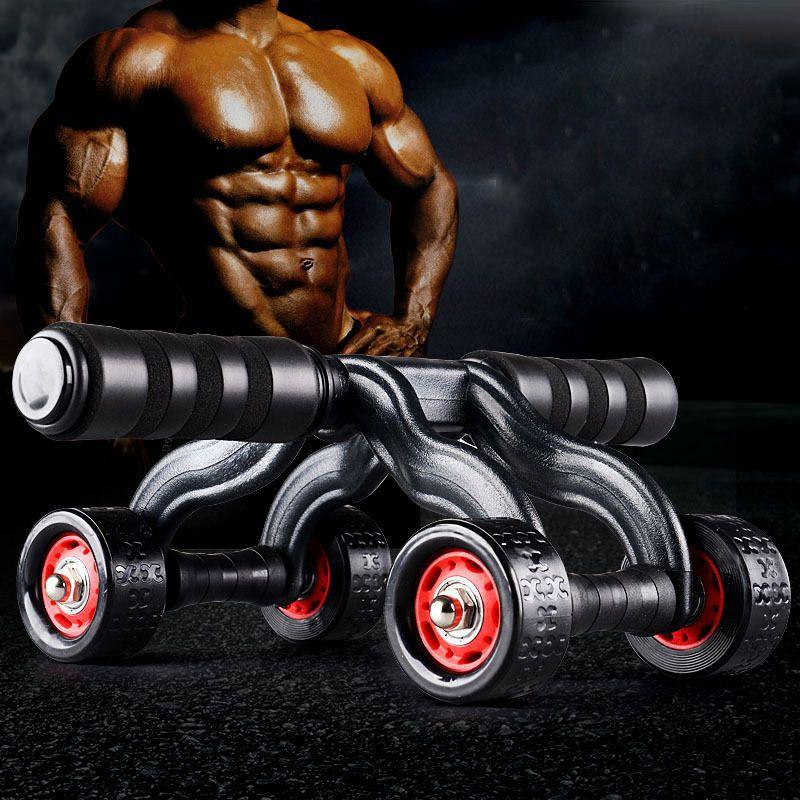 Rolo de Exercícios Abdominais com 4 rodas - Ab Wheel