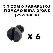 Kit Com 6 Parafusos Fixação Mira Dione