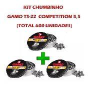Combo Chumbinho Gamo Ts-22 5.5 600un