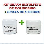 Combo Graxa De Bisulfeto De Molibdenio 30g + Silicone 30g