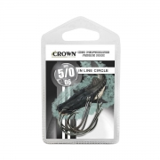 Anzol Crown In Line Circle Black