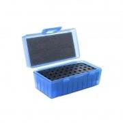 Caixa p/ Munição Calibre 38/357/22 50 Cartuchos Shotgun Azul