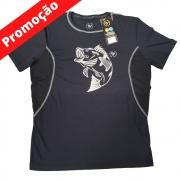 Camiseta By Aventura Manga Curta Tucunaré Vermelha ou Preta (M)