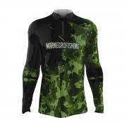 Camiseta de Pesca Mar Negro 2021 Camuflado Verde