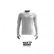 Camiseta Mar Negro 2020 Gola Careca c/ Luva Branca