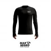 Camiseta Mar Negro 2020 Gola Careca C/ Luva Preta