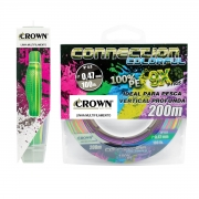 Linha Crown Multi 9x Connection Colorful 300m 0,26 Mm 40lbs