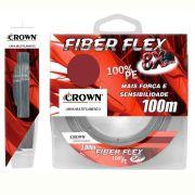 Linha Crown Multifilamento Saint Fiber Flex 8x 100 m Cinza