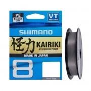 Linha Multifilamento Shimano Kairiki 8 Pe 150 m Cinza