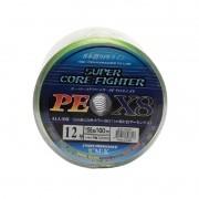Linha Multifilamento Super Core Fighter X8 Colors (100 Metros)