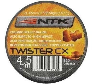 Chumbinho Nautika Twister 4.5 Mm - 250 Un