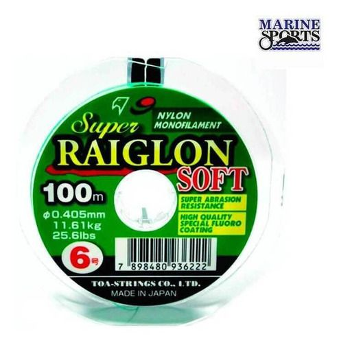Linha Marine Sports Super Raiglon Soft 0,37 mm (100 m)  - Pró Pesca Shop