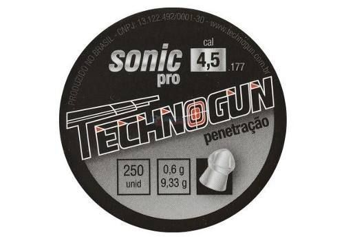 Chumbinho Technogun Sonic Pro 4.5 Mm (250 Un) - 4,5 Mm  - Pró Pesca Shop