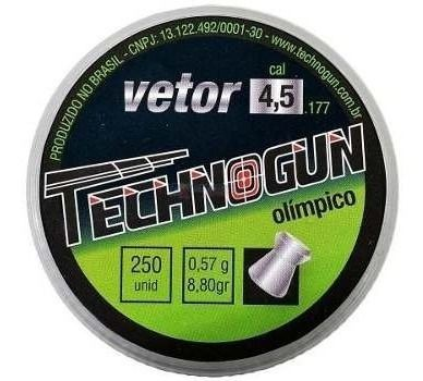 Chumbinho Technogun Vetor 4.5 Mm - 4.5 Mm  - Pró Pesca Shop