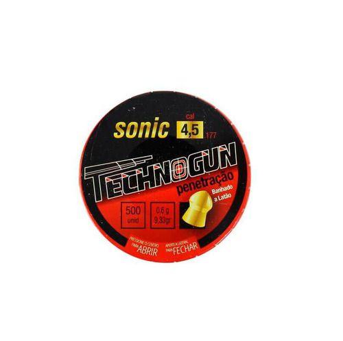 Chumbinho Technogun Sonic Pro 4,5 Mm (500 Un)  - Pró Pesca Shop