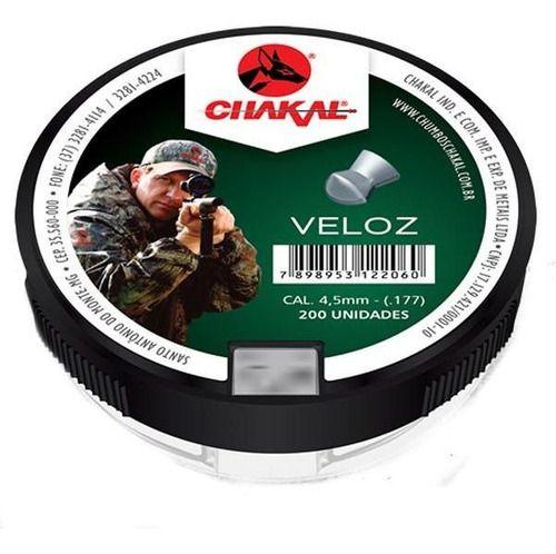 Chumbinho Veloz 4.5 Mm (c/ 200 Un) - Chakal