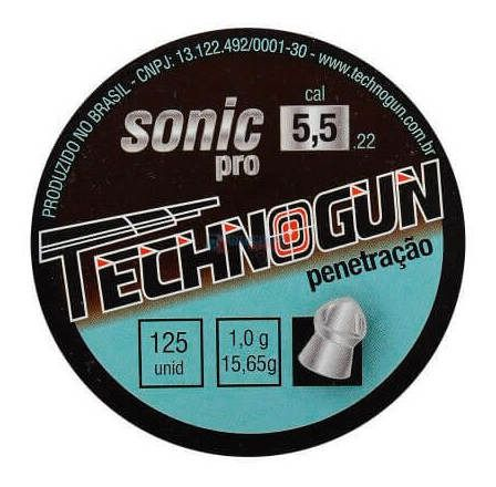 Chumbinho Sonic Pro 5.5 Mm Master (250 Un.) - Technogun