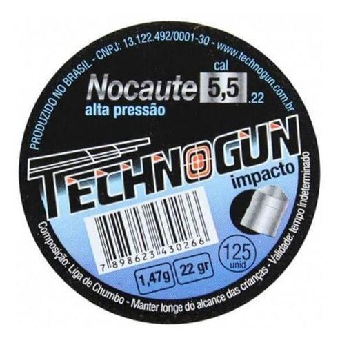 Chumbinho Nocaute 5.5 Mm (125 Un.) - Technogun  - Pró Pesca Shop