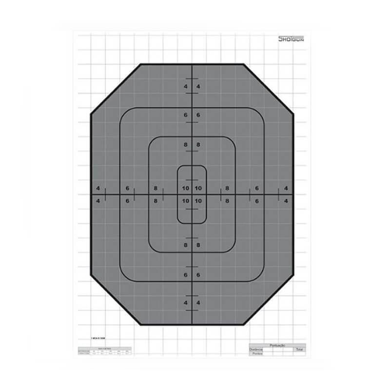Alvo p/ Treino de Tiro Modelo Plate Shotgun  - Pró Pesca Shop