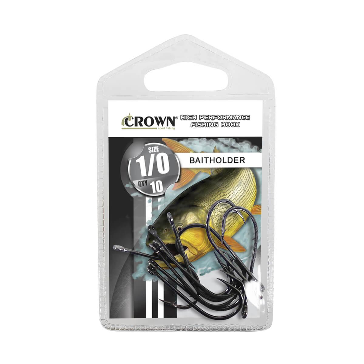 Anzol Crown Baitholder Black  - Pró Pesca Shop