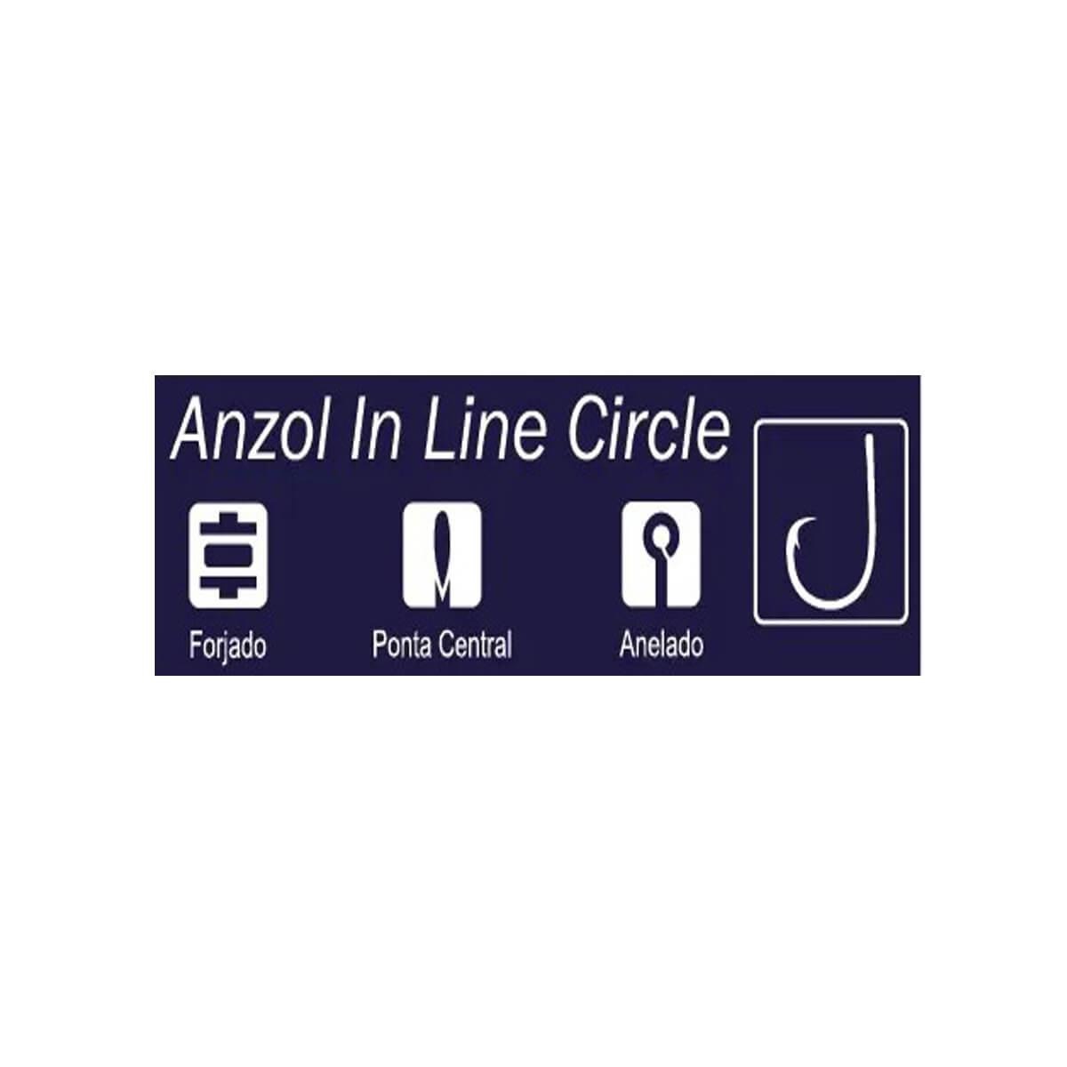 Anzol Crown In Line Circle Black  - Pró Pesca Shop