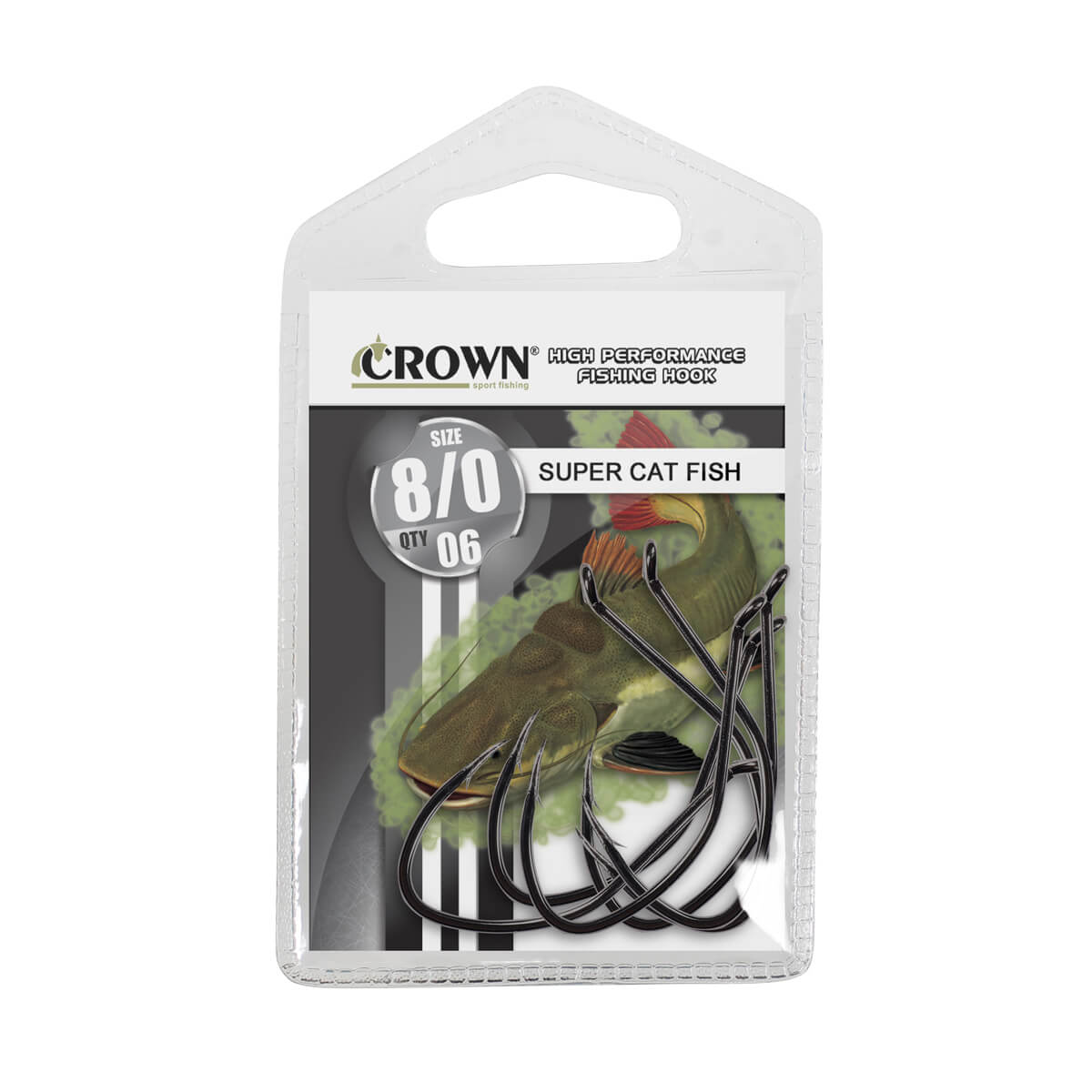 Anzol Crown Super Cat Fish Black  - Pró Pesca Shop
