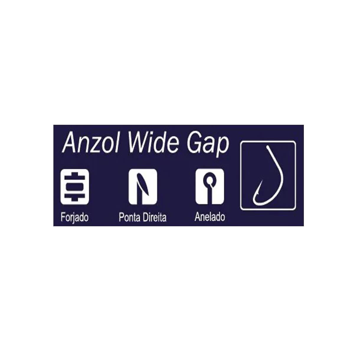 Anzol Crown Wide Gap Black  - Pró Pesca Shop