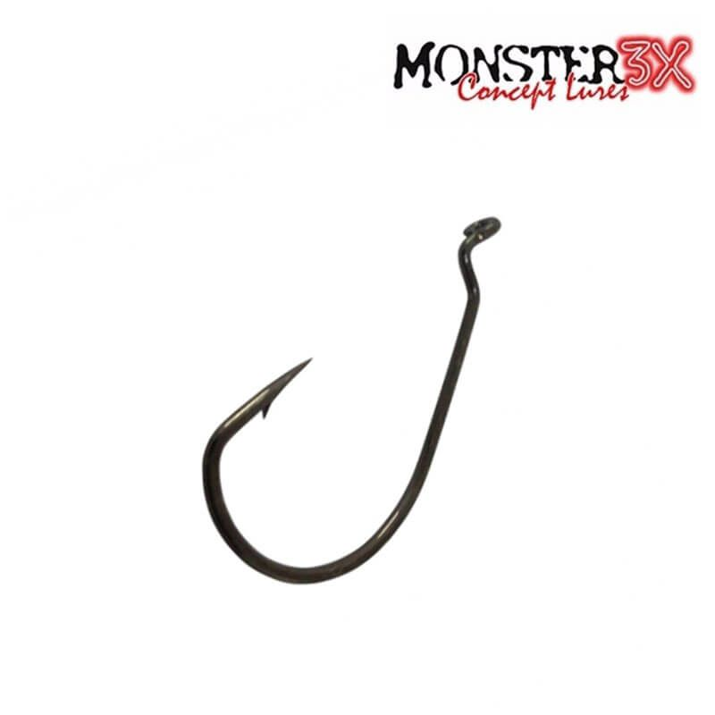 Anzol Monster 3X Offset (C/ 3 Un)  - Pró Pesca Shop