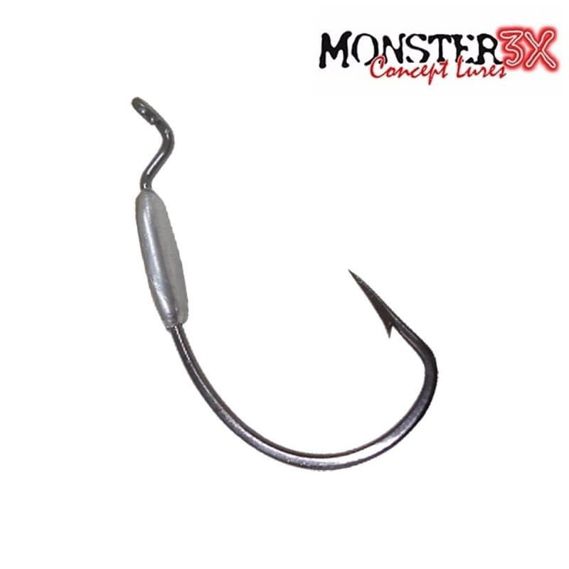 Anzol Monster 3X Offset Lastreado 3/0 (2,5G)
