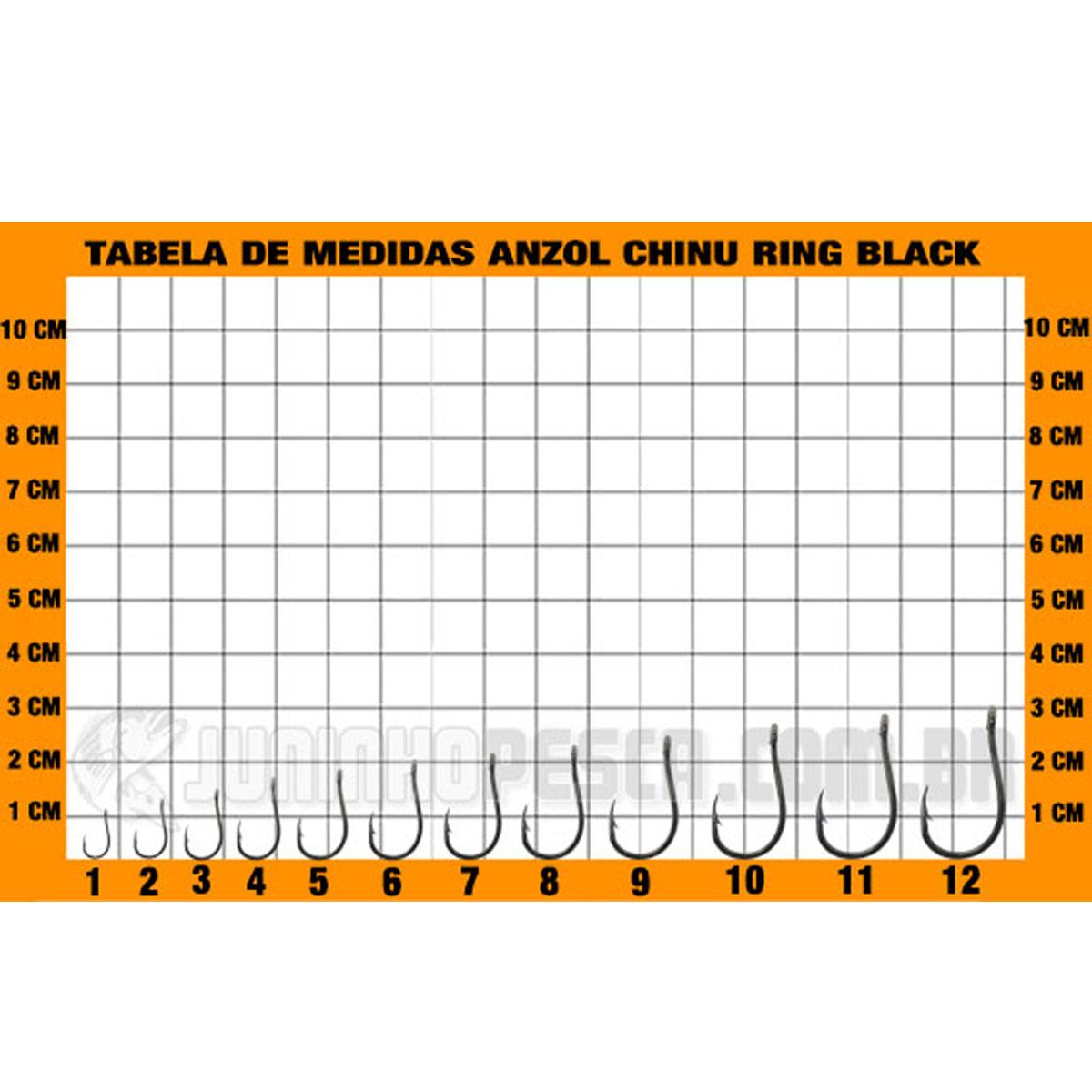 Anzol Pinnacle Chinu Ring Black nº 09  - Pró Pesca Shop
