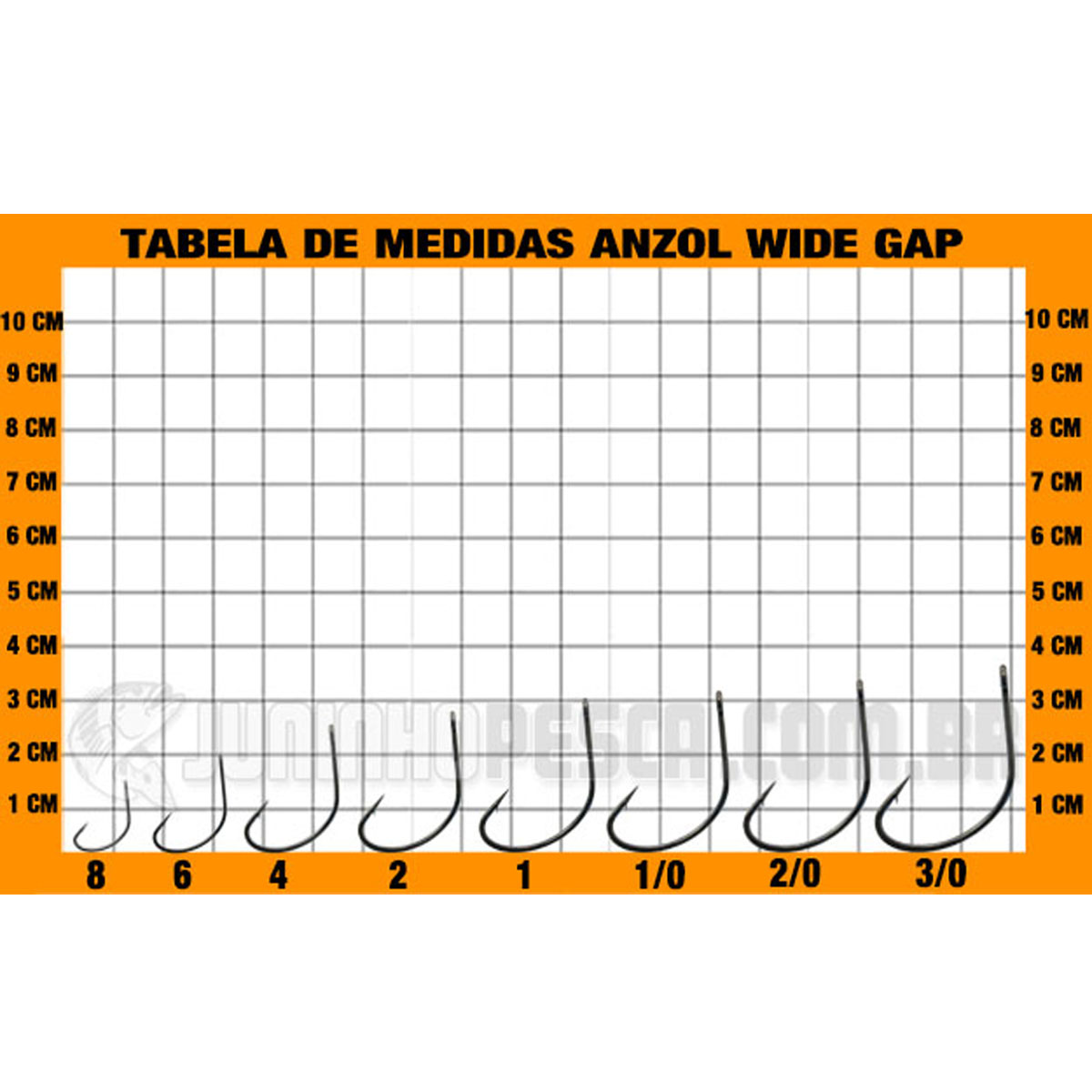 Anzol Pinnacle Wide Gap nº 08  - Pró Pesca Shop
