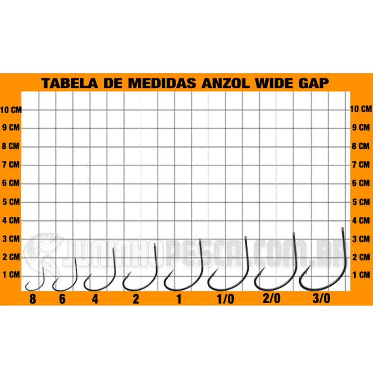 Anzol Pinnacle Wide Gap nº 3/0  - Pró Pesca Shop
