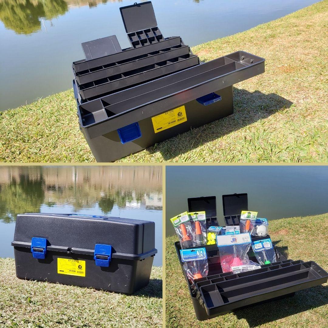Caixa de Pesca c/ 2 Bandejas e 2 Mini Estojos (Ef 372) - Emifran  - Pró Pesca Shop
