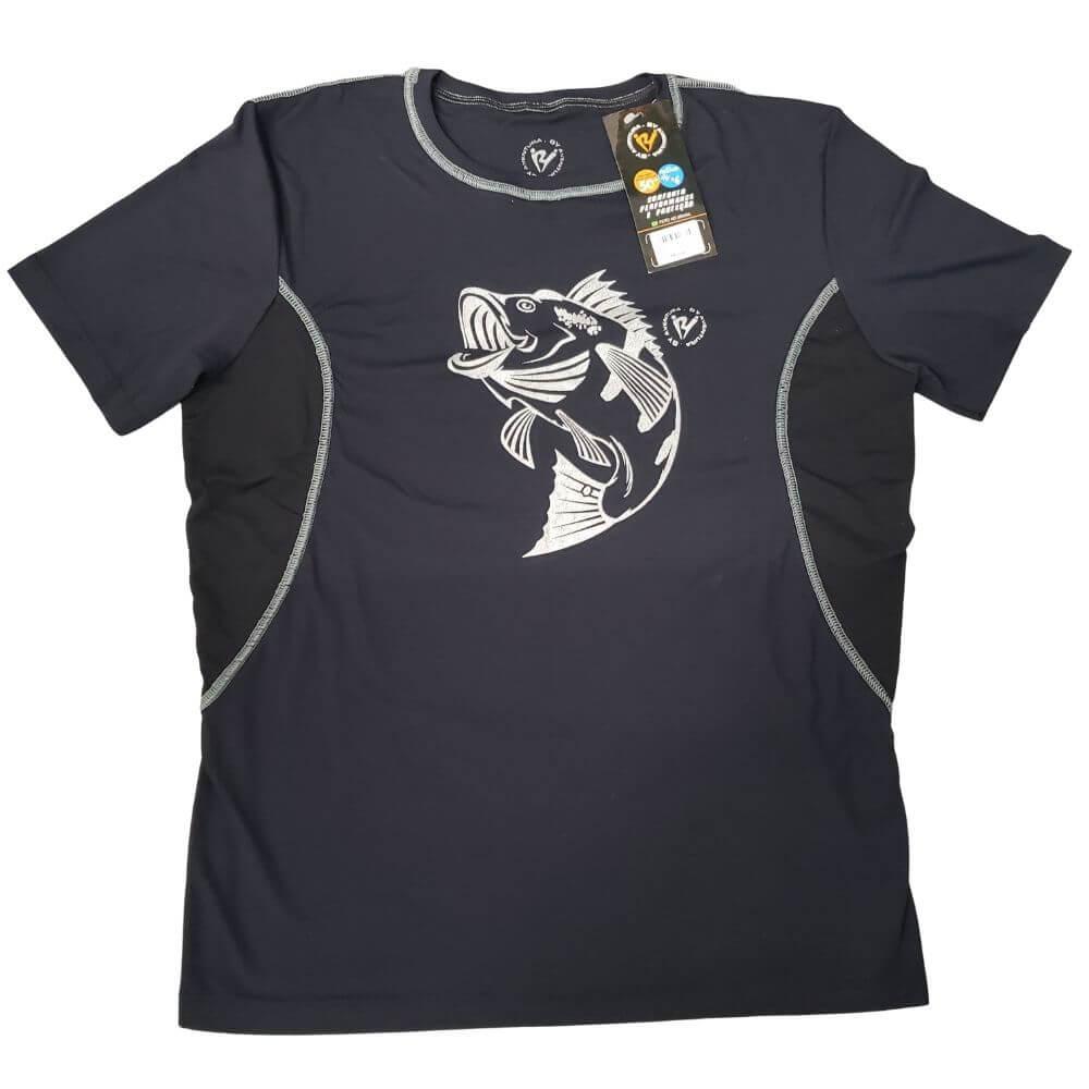 Camiseta By Aventura Manga Curta Tucunaré Vermelha ou Preta (M)  - Pró Pesca Shop